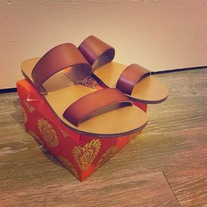 New brown leather J. Crew sandals